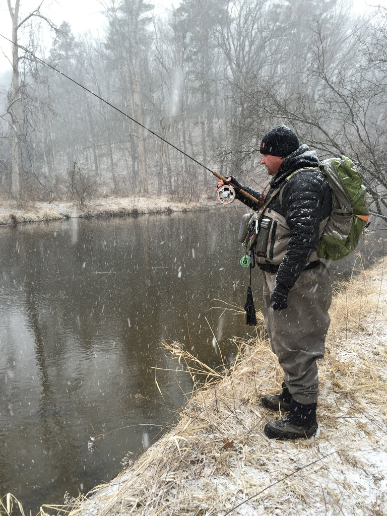 stealthy fishing great lakes snow