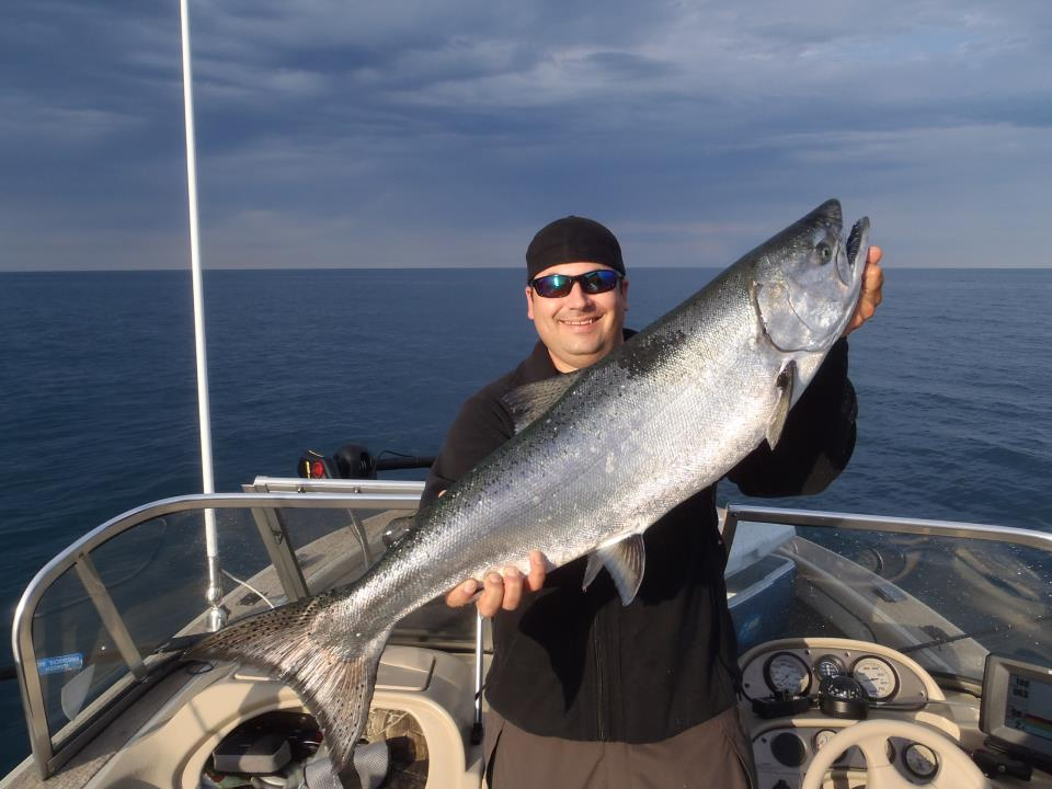great lakes salmon fishing