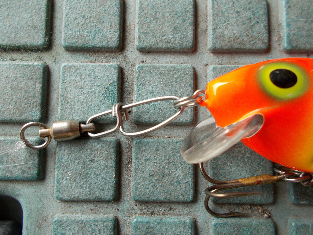 Snap swivels on a body bait can kill the action.