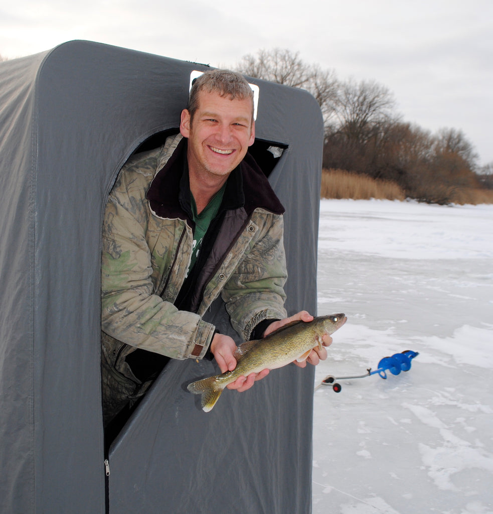saingaw bay river walleye fishing ice