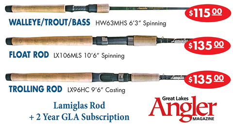 Choose Lamiglas Fishing Rod + 2 Year Great Lakes Angler Subscription-12 ISSUES