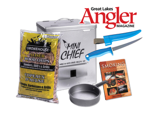 Mini Chief Smoker, Fillet Knife, Scott & Tiffany Haugen Smoking Cookbook & 1 Year Subscription to GLA