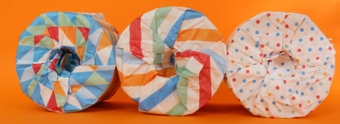 loo rolls wrapped in paper