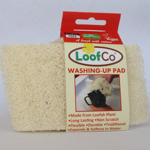plastic-free loofah washing-up pad
