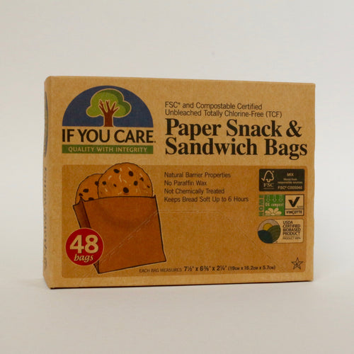 plastic-free paper snack and sandwich bags