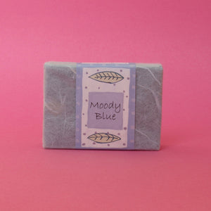 moody blue natural soap bar