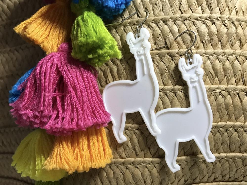 No Prob-Llama 3D Printed Earrings