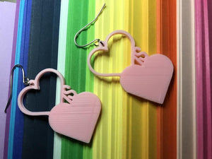 Love is Love 3D Printed Earrings