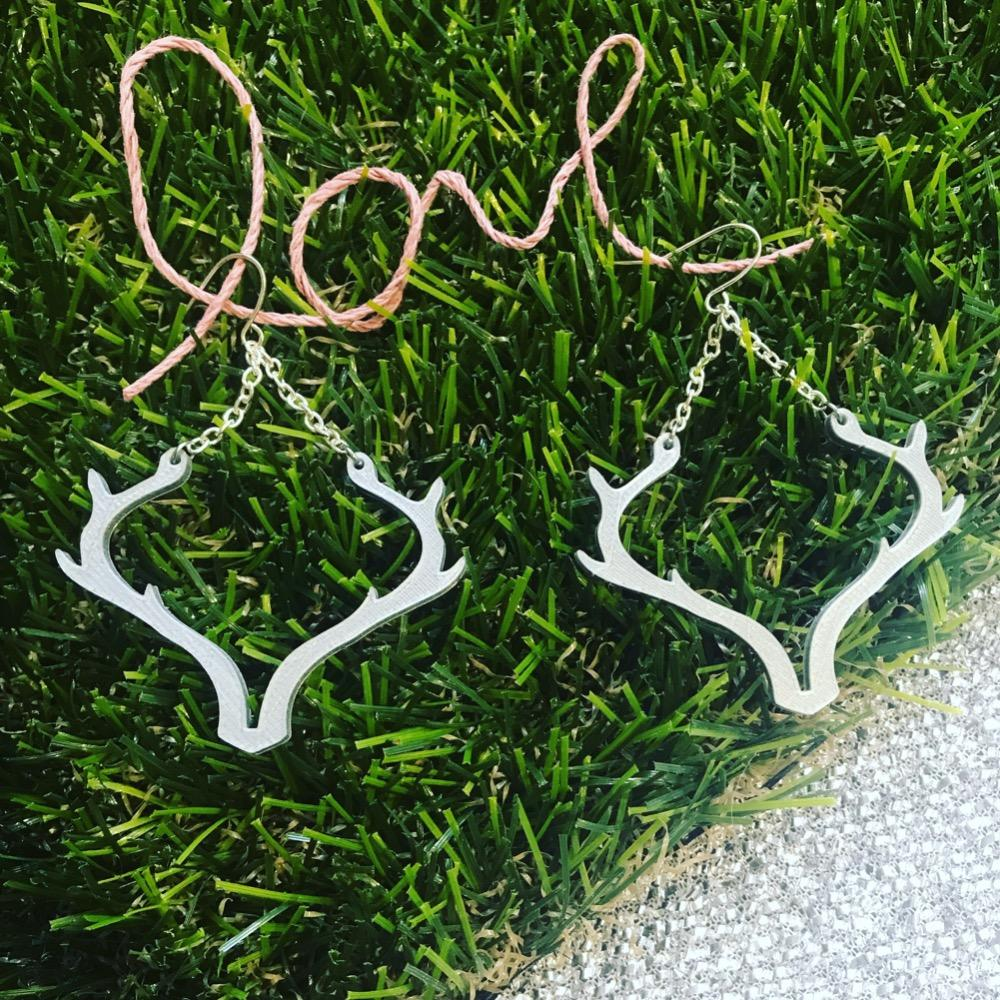Oh Deer 3D Printed Earrings
