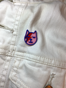Kitty Stardust 3D Printed Pin