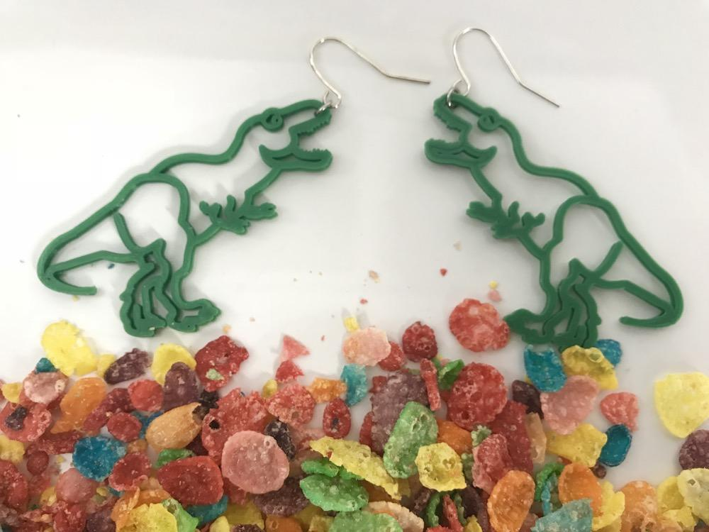 Dino-Mite 3D Printed Earrings