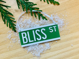 Come Rain or Sign Custom 3D Printed Ornament