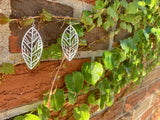 Unbe-leaf-able 3D Printed Earrings