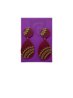 Load image into Gallery viewer, Good and Mehndi 3D Printed Earrings