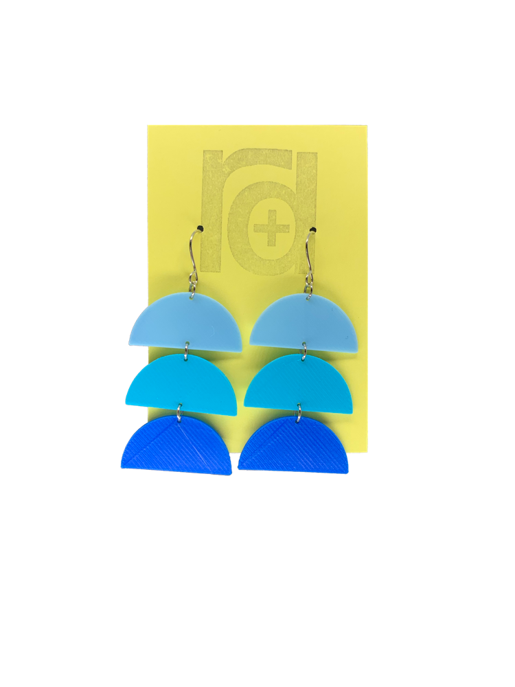 Gradient Expectations 3D Printed Earrings