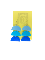 Load image into Gallery viewer, Gradient Expectations 3D Printed Earrings
