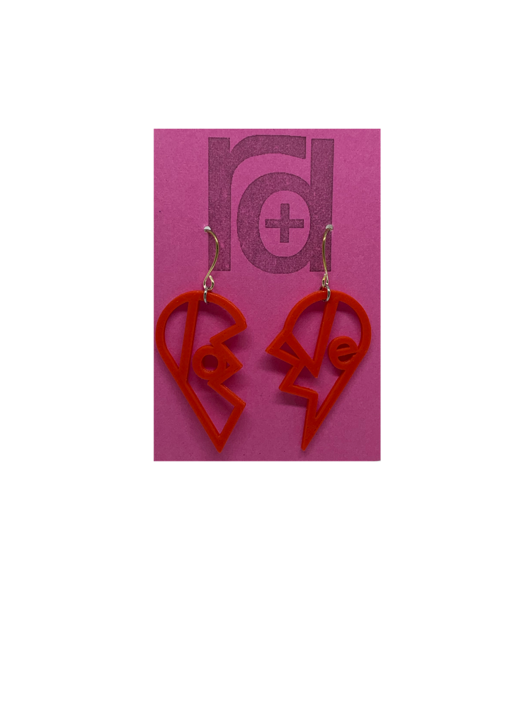 Heartbreaker 3D Printed Earrings