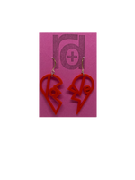 Load image into Gallery viewer, Heartbreaker 3D Printed Earrings