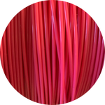 Load image into Gallery viewer, This is a close up of the spool of the eco friendly 3D printer filament that we use to create our items. This is our hot pink spool, it is a vibrant and eye catching pink like bubble gum, gerbera daisies, or neon signs.