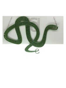 Hugs and Hisses 3D Printed Necklace