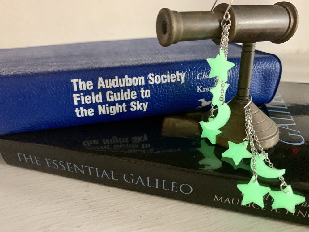 Let Me Glow Among The Stars 3D Printed Earrings