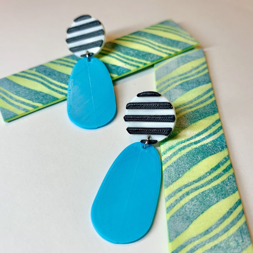 Yikes Stripes! 3D Printed Earrings