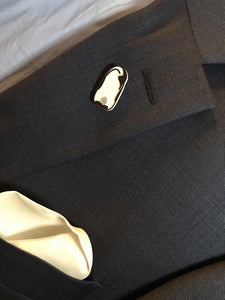Penguin Suit 3D Printed Lapel Pin/Tie Tack and Cufflinks
