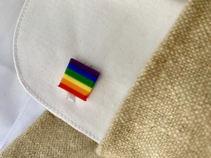 Rainbow Connection 3D Printed Lapel Pin/Tie Tack and Cufflinks