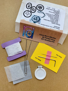 Leave Me In Stitches 3D Printed Hoop DIY Necklace Kit