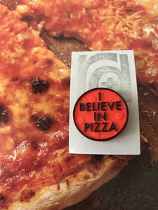In Pizza We Crust 3D Printed Pin
