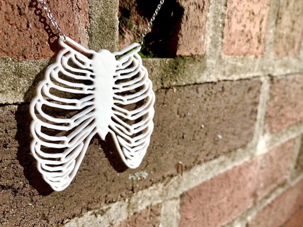 Gentle Ribbing Cracks Me Up 3D Printed Necklace