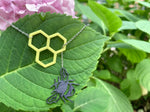 Load image into Gallery viewer, Let It Bee 3D Printed Necklace