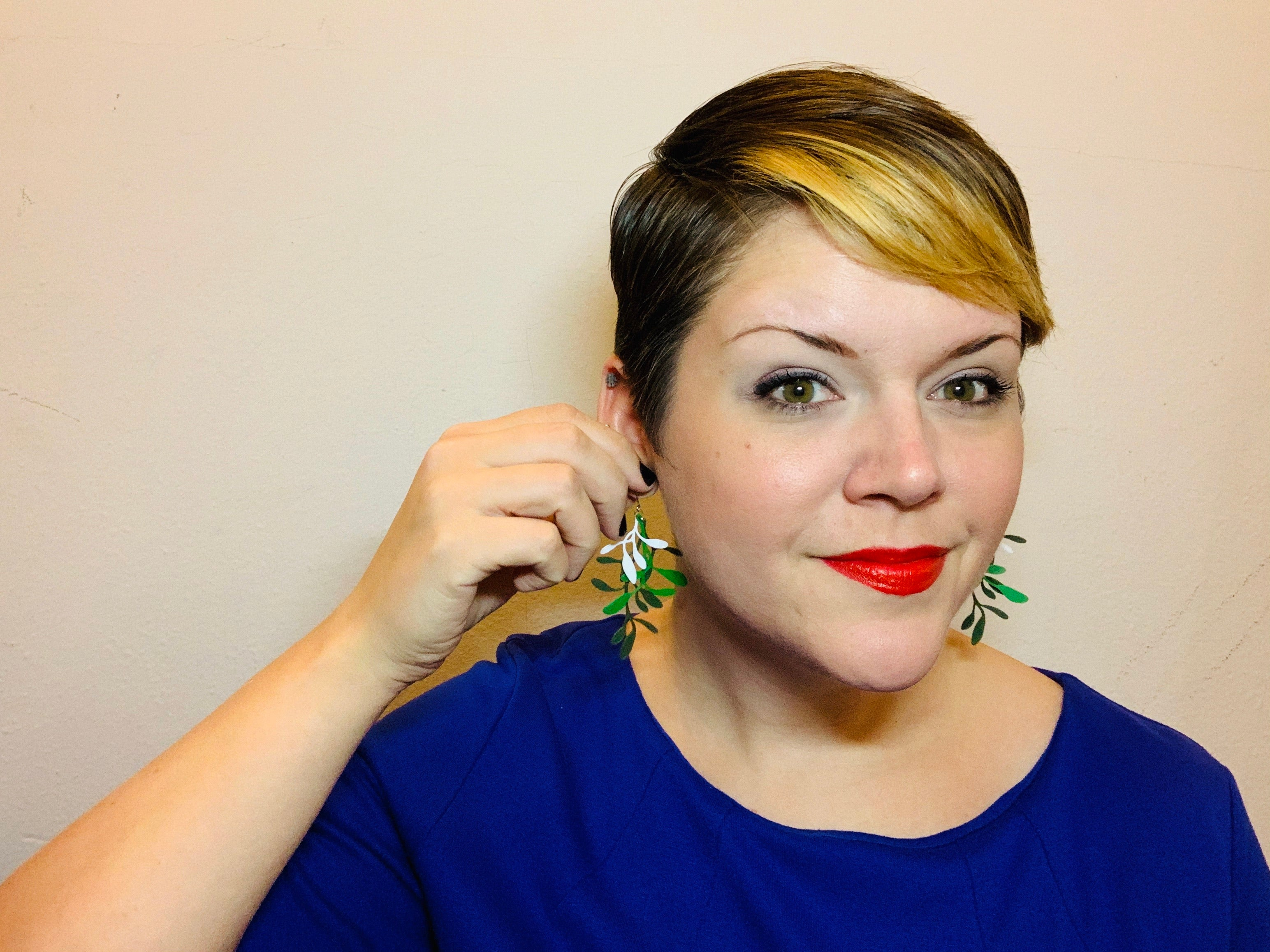 Plant One On Me 3D Printed Earrings