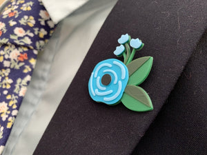Well Suited 3D Printed Lapel Pin/Tie Tack and Cufflinks