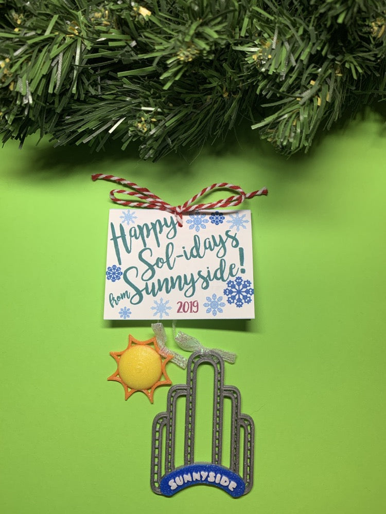 Happy Sol-idays from Sunnyside! 2019 3D Printed Ornament