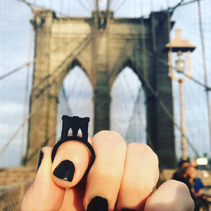 No Sleep 'Til Brooklyn 3D Printed Ring