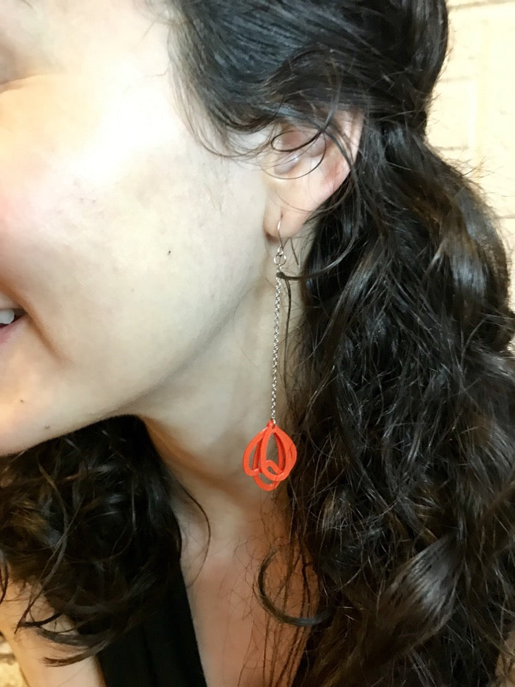 What in Carnation? 3D Printed Earrings
