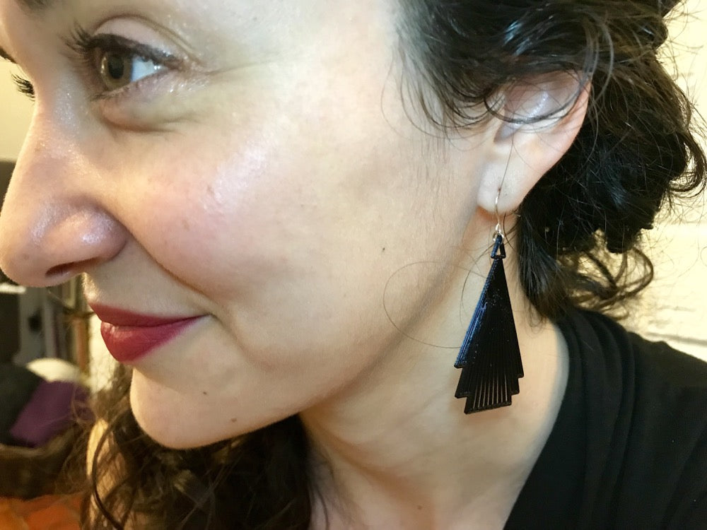 Drop it Like F. Scott 3D Printed Earrings