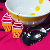 A Midsummer Ice Cream 3D Printed Earrings