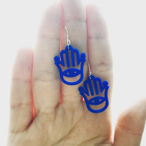 Talk to the Hand 3D Printed Earrings