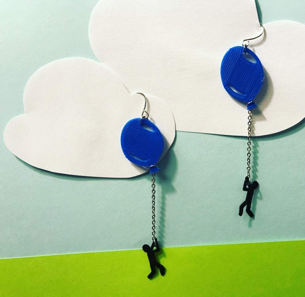 Hang In There 3D Printed Earrings