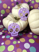 Load image into Gallery viewer, Trick or Treat Yo'Self 3D Printed Earrings