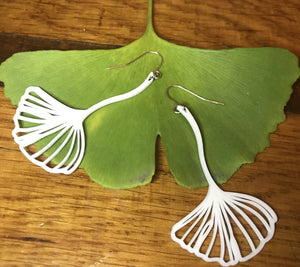 Ginkgoing My Way 3D Printed Earrings