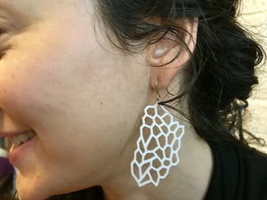 Water Runs Dry 3D Printed Earrings