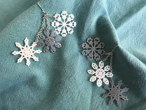 Hoping for a Snow Day 3D Printed Earrings