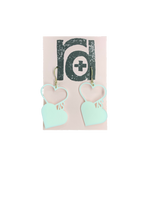 Load image into Gallery viewer, Love is Love 3D Printed Earrings