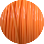 Load image into Gallery viewer, This is a close up of the spool of the eco friendly 3D printer filament that we use to create our items. Pictured here is our orange spool, a bright color like citrus, marigolds, or fresh carrots.