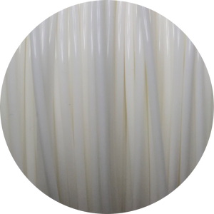 This is a close up of the spool of the eco friendly 3D printer filament that we use to create our items. This is our white spool. It is bright and clean white like snow, fluffy clouds, or crisp cotton.