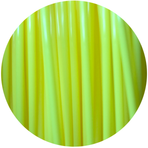 This is a close up of the spool of the eco friendly 3D printer filament that we use to create our items. Our yellow spool is shown here, it is the color of fresh lemons, juicy pineapples, and perfectly ripe bananas.