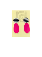 Load image into Gallery viewer, Yikes Stripes! 3D Printed Earrings
